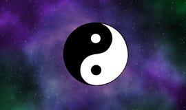 Yinyang astratto nell'universo Fotografia Stock Libera da Diritti