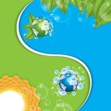 Yinyang de Eco. Ilustration del vector Imagenes de archivo