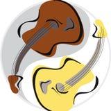 Yinyang della chitarra Immagine Stock Libera da Diritti