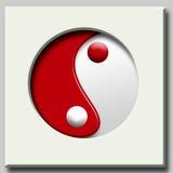 YinYang simbol 免版税库存图片