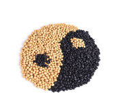 YINYANG SOYBEANS Royalty Free Stock Photo