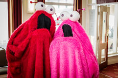`Yip Yips from Sesame Street Stock Image