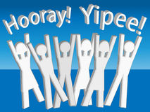 Yipee ! Hourra ! Jubilation Photo stock