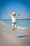 Yippieh !!! - holiday at the beach - Stock Images