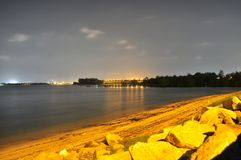 Yishun north coast in the stillness of the night Stock Image