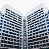 Yishun-Symmetrie Stockfoto