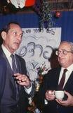 Yitzhak Moda'i and Yitzhak Navon Stock Photos