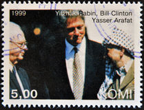Yitzhak Rabin Bill Clinton i Yasser Arafat, Fotografia Stock
