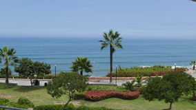 Yitzhak Rabin park in Miraflores district of Lima Stock Photos