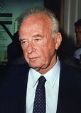 Yitzhak Rabin. Photographed at the King David Hotel in Jerusalem, Israel, on June 17, 1992. He was preparing to meet with Mikhail Gorbachev. Six days later, as royalty free stock image