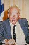 Yitzhak Rabin. Then Israel's Defense Minister, photographed at a conference in Jerusalem in 1988. A former Israel Defense Forces head, Parliamentarian, Palmach stock images