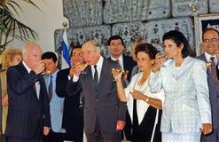 Yitzhak Rabin Traditional Toast Imágenes de archivo libres de regalías