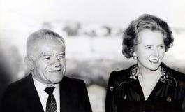 Yitzhak Shamir en Margaret Thatcher royalty-vrije stock afbeelding
