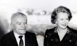 Yitzhak Shamir and Margaret Thatcher Royalty Free Stock Image
