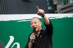 Yiu-κουδούνισμα του Benny Tai, ομο-ιδρυτής Occupy κεντρικοί με την αγάπη και ειρήνη Στοκ Φωτογραφίες