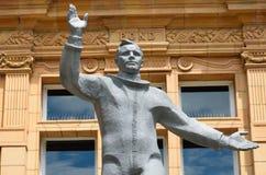 Yiur gagarin statue waving Stock Photography