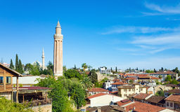 Yivli Minare Mosque in Antalya, Turkey Stock Photos