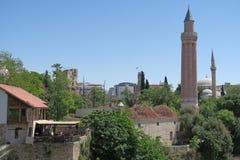 Yivli Minare Mosque is a Landmark in Antalyas Oldtown Kaleici, Turkey Royalty Free Stock Photos
