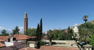 Yivli Minare Mosque is a Landmark in Antalyas Oldtown Kaleici, Turkey Stock Images