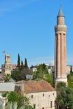 Yivli minaret mosque in Antalya, Turkey Stock Photography