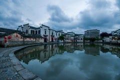 Yixian County, Anhui Hongcun clouds under the marsh Royalty Free Stock Photos
