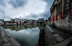 Yixian County, Anhui Hongcun clouds under the marsh Royalty Free Stock Images