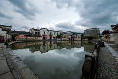 Yixian County, Anhui Hongcun clouds under the marsh Stock Images