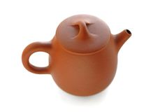 Yixing red clay teapot Stock Photo