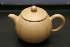 Yixing teapot. Traditional Chinese teapot made of yixing clay royalty free stock image