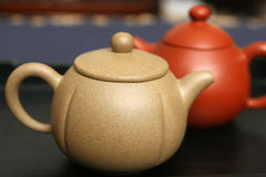 Yixing. Traditional Chinese teapots made of yixing clay stock photography