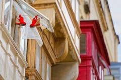 Żyjący w centrum miasta Malta, los angeles Valletta Obraz Stock