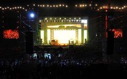 Żyje koncert na Głównej scenie Przemilczany festiwal Zdjęcia Stock