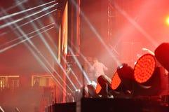 Żyje koncert na Głównej scenie Przemilczany festiwal Obrazy Royalty Free