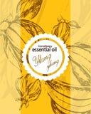 ylang ylang的精油的标签 图库摄影