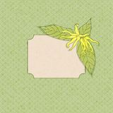 Ylang-ylang flower frame. Ylang-ylang fframe, soft colors, vector illustration, eps10 Stock Photography