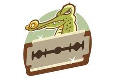 ŻYLETKI krawędź krokodyl Zdjęcie Royalty Free