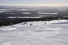 Ylläs Finland Arkivfoton