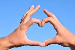 Ymbol av hjärtaform Arkivbilder