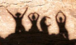 YMCA Schatten Stockbilder