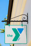 YMCA Sign and Logo Stock Images