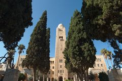 YMCA tower in Jerusalem, Israel Royalty Free Stock Images