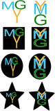 Ymg letters logo Royalty Free Stock Image