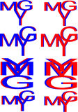 Ymg letters logo Stock Image