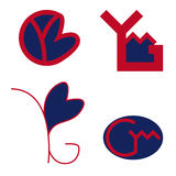 YMG letters logo Stock Photo