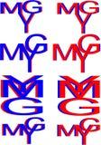 Ymg marque avec des lettres le logo Image stock