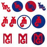 Ymg pone letras al logotipo Fotos de archivo