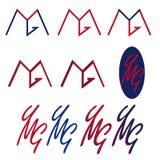 Ymg pone letras al logotipo Fotografía de archivo