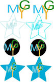 Ymg rotula o logotipo Fotos de Stock Royalty Free