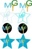 Ymg segna il logo con lettere Fotografie Stock Libere da Diritti