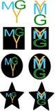 Ymg segna il logo con lettere Immagine Stock Libera da Diritti